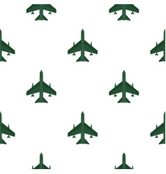 Aircraft with missiles pattern flat vector