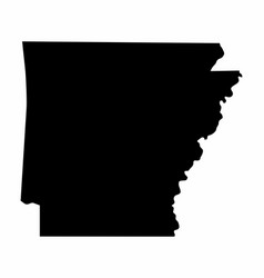 Arkansas state silhouette map vector
