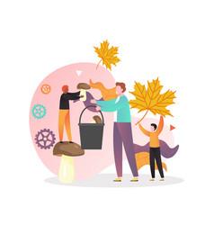 autumn season concept for web banner vector image