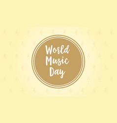 Background for world music day vector