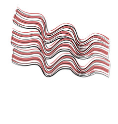 Bacon strips food related image vector