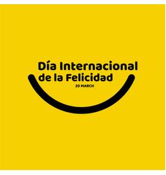 Basic rgbdia internacional de la felicidad vector