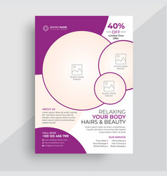 Beauty product discount sale flyer template vector
