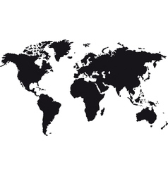 Black map of world vector