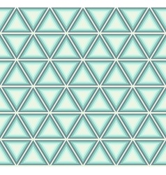 Blue triangle in mosaic vector image
