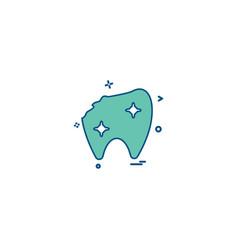 broken tooth dental treatment dentist dentistry vector image
