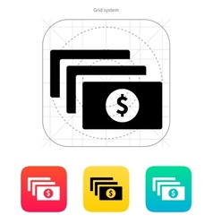 Bundle with dollar sign icon vector image