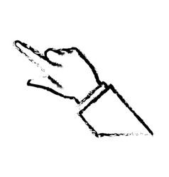 business man finger hand pointing image sketch vector image