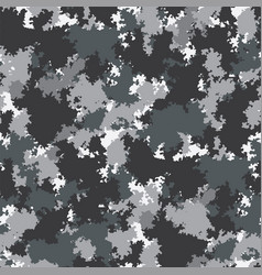Camo urban grey hues colored camouflage pattern vector