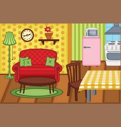 Cartoon apartment interior vector