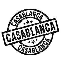 Casablanca black round grunge stamp vector