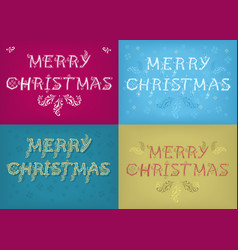 Christmas cards with country patterns vector