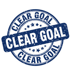Clear goal blue grunge stamp vector
