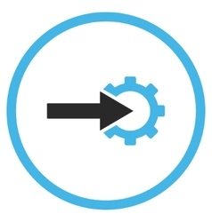 Cog Integration Flat Icon vector