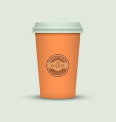 Colorful coffee cup vector