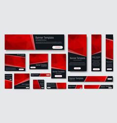 design black banners standard size vector image