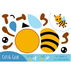 education paper game for children bee vector image