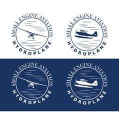 Emblem hydroplane vector