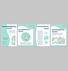 Environmental issues brochure template flyer vector