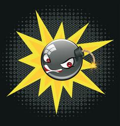 evil round bomb vector image