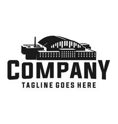 factory building logo vector image