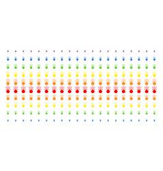 Fireworks detonator shape halftone spectrum vector