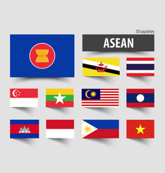 flag of asean association of southeast asian vector image