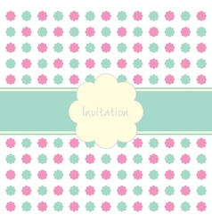 Floral Invitation Pattern vector image