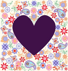 floral pattern heart vector image