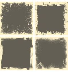 Four grunge frames vector image