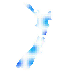 frozen new zealand map vector image