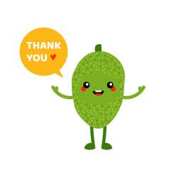 green jackfruit character saying thank you vector image