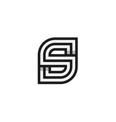 initial s monogram logo vector image