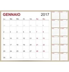 Italian calendar 2017 vector