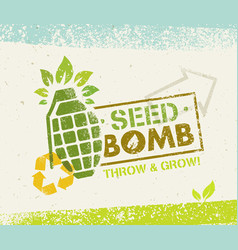 keep calm and do seed bombs city gardening vector image