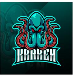 Kraken octopus sport mascot logo design vector
