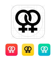 Lesbian icon vector image