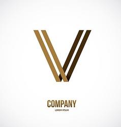 Letter design vector image