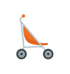 little pram icon flat style vector image