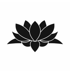 Lotus flower icon simple style vector image