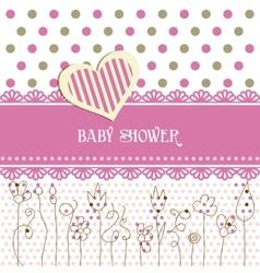 Lovely baby shower vector