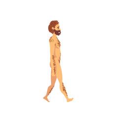 Male cro magnon biology human evolution stage vector