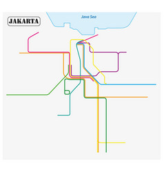 map rail transit systems jakarta vector image