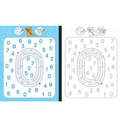 Maze number 0 vector