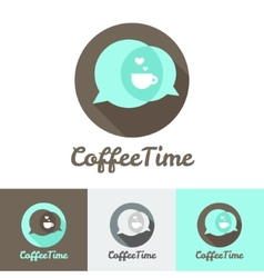 Modern flat coffee shop cafe or restaurant logo vector