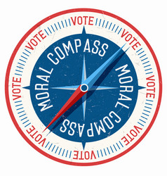moral compass all directions say vote vector image