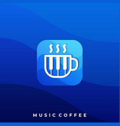 music coffee icon application template vector image