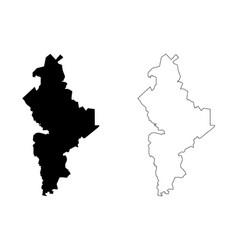 nuevo leon map vector image