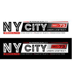 ny city brooklyn typography design vector image