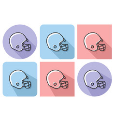Outlined icon of american football player helmet vector